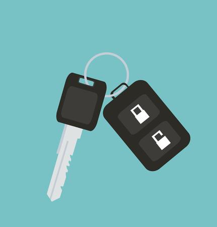 Chiave dell'automobile con l'automobile telecomandata su un fondo normale.