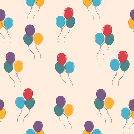 colorful balloons pattern Illustration