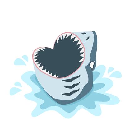 haai met open mond