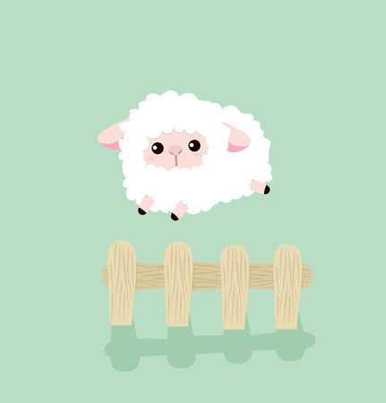Counting sheep Ilustrace