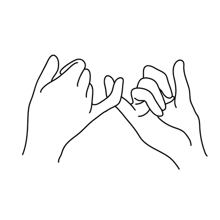 Pinky swear outline icon