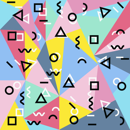 Polygonal memphis background