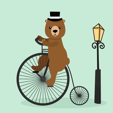 bear riding a bycicle