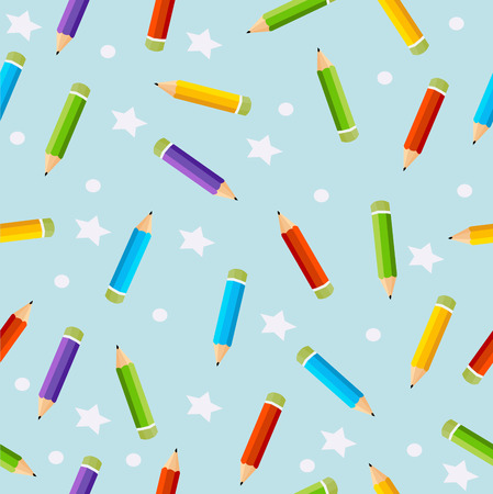 Seamless Pattern colored pencils vector