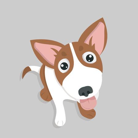 Cute Funny happy dog vector