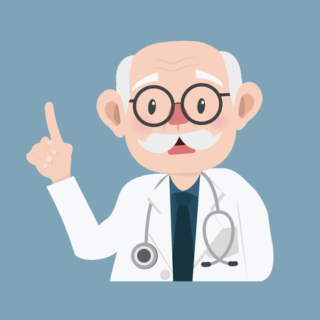 old man doctor cartoon