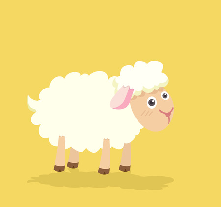 Funny Cute sheep vector