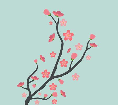 Cute cherry tree background