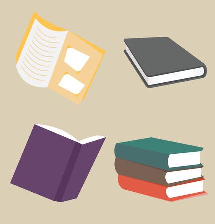 Books icon collection set Illustration
