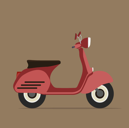 Cool red motorcycle Flat design