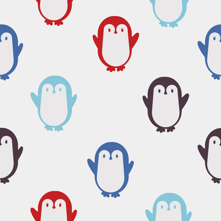 colorful Penguin vector pattern Stock Illustratie