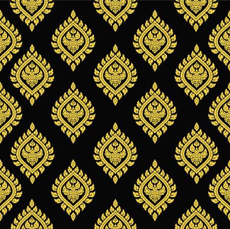Line thai art pattern vector 矢量图像