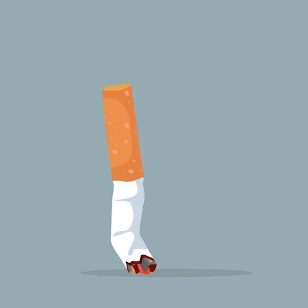Wektor niedopałek papierosów
