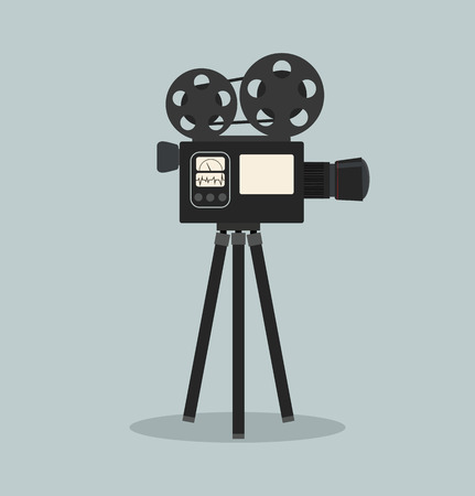 retro cinema film camera vector