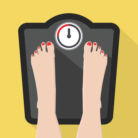 Feet on Weight Scale vector