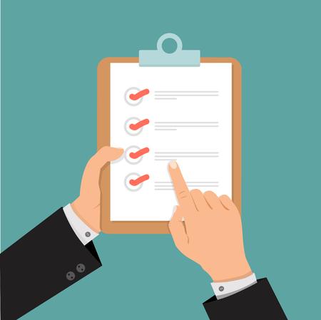 businessman hands using check list design Ilustração