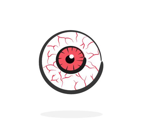 red blood eye vector