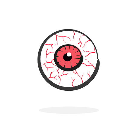 red blood eye vector
