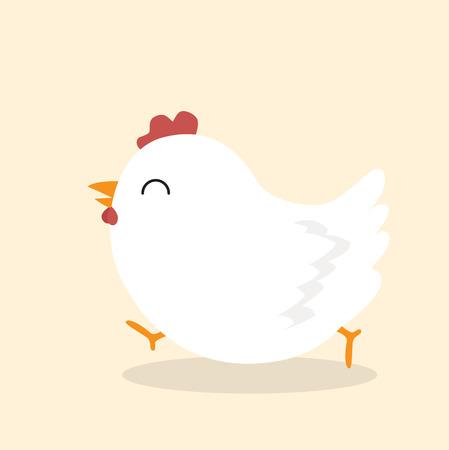 Lindo vector animal de pollo