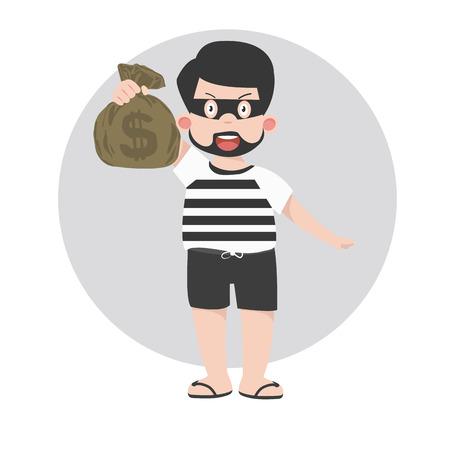 Kid thief cartoon character.ai Illustration