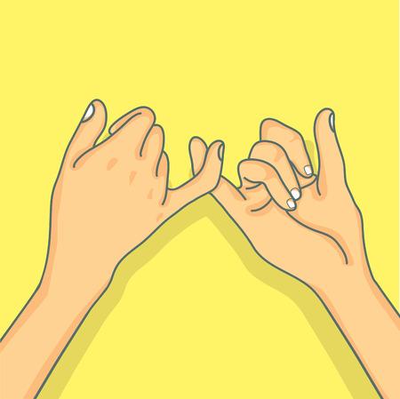 Concetto di promessa del mignolo della mano