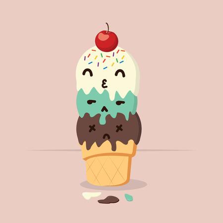 Doodle  tasty ice cream cone