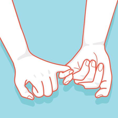 dibujado a mano al vector de promesa Pinky
