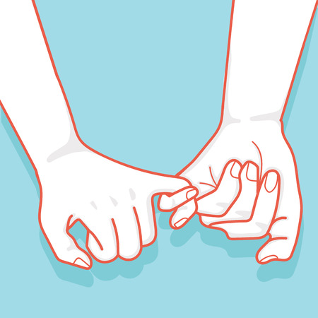 hand drawn to Pinky promise  vector
