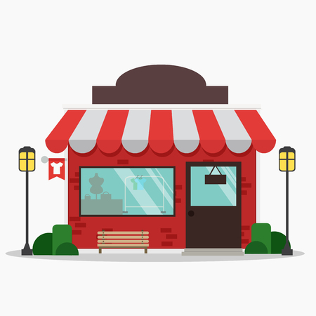 Storefront vector illustration