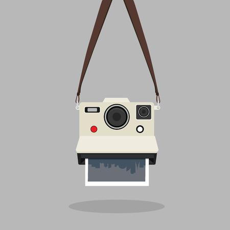 fotocamera istantanea retrò appesa