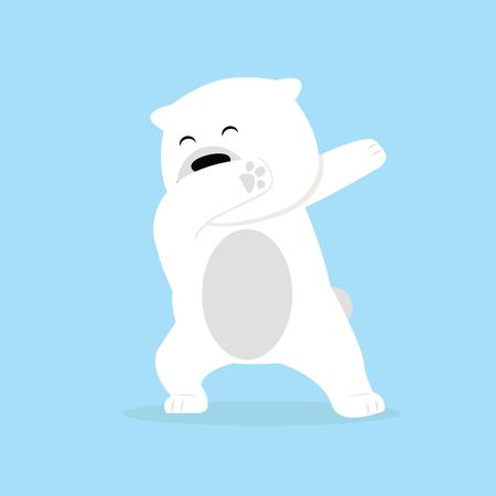 Lonely polar Bear dabbing movement Vecteurs