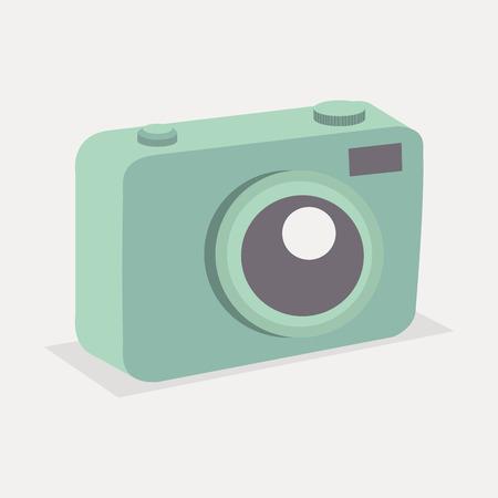 Retro green pastel camera