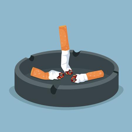 Zigarette im Aschenbechervektor Vektorgrafik