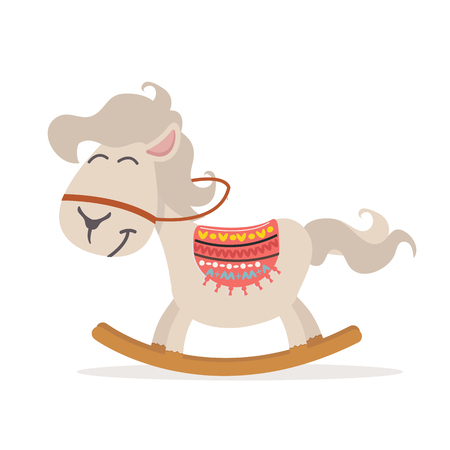 Cute Rocking Horse vector illustrator Illustration