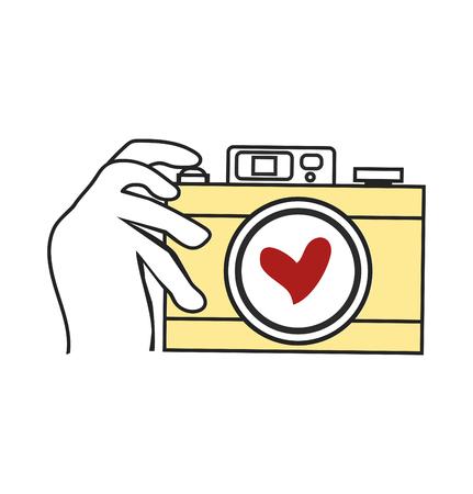 Hand Holding Camera vector