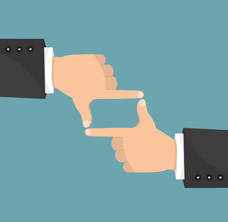 Hands businessman  frame composition Ilustrace