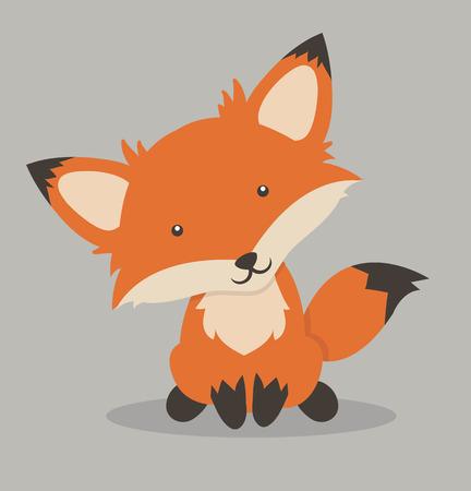 little Red fox cartoon Banque d'images - 117831342
