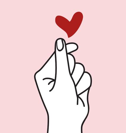 sign mini heart outline Stok Fotoğraf - 117831344
