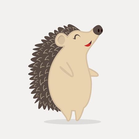 Cute Hedgehog standing animal cartoon
