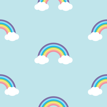 Pastel rainbow seamless pattern