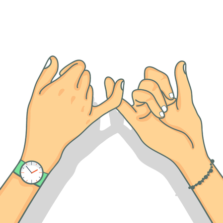 Hand drawn  promise vector