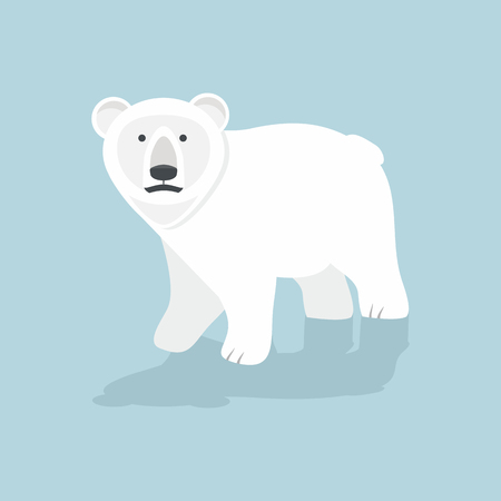 Cute Polar bear  vector Stock Illustratie