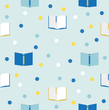 books seamless vector pattern
