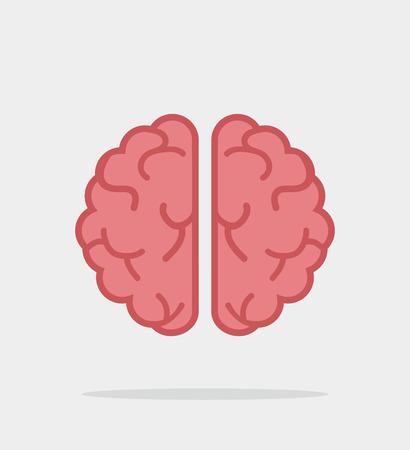 Creative brain vector flat
