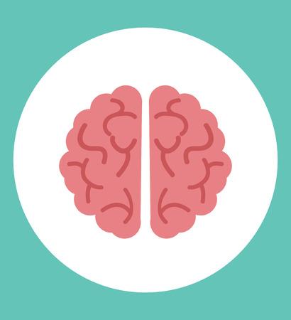 Creative brain vector icon
