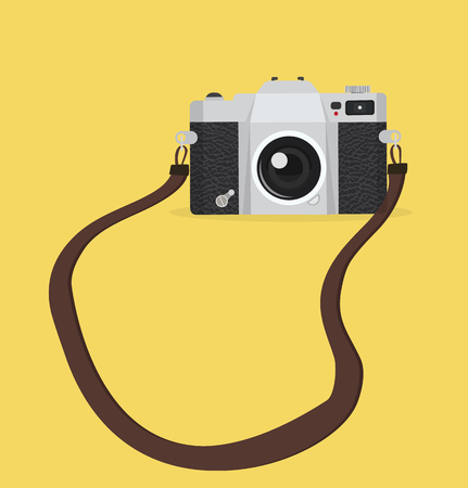 hanging vintage camera vector