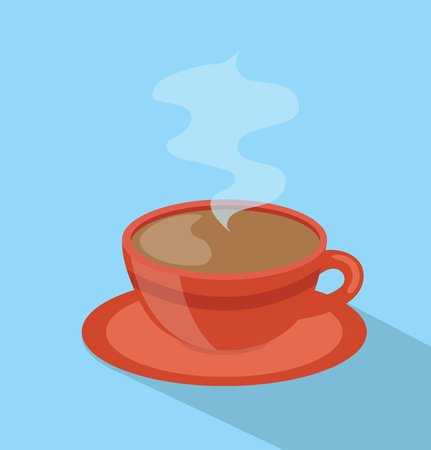 red coffee hot cup Vector Illustration