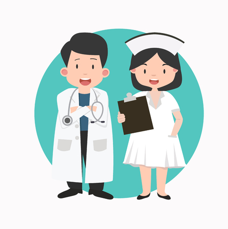 Nurse and doctor Vector illustration