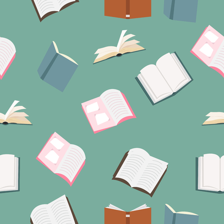 open books vector pattern