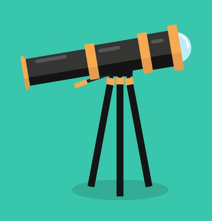 telescope vector flat design Standard-Bild - 123933874